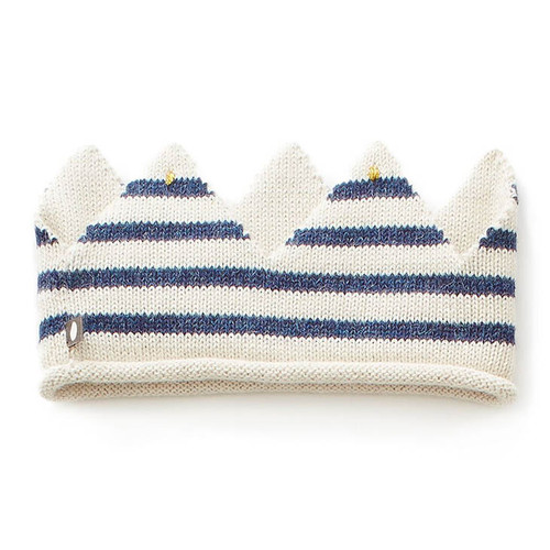 Oeuf Crown, White/Indigo Stripes