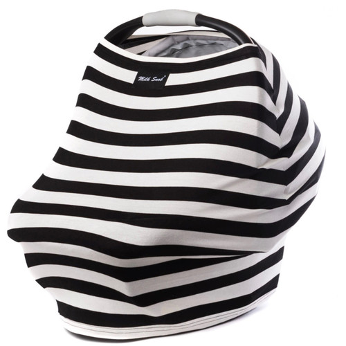 Milk Snob Car Seat Cover B&W Signature Stripes