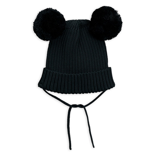 Mini Rodini Ear Beanie, Black