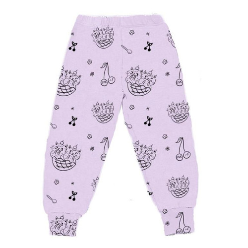 Cat Sundae Bubble Pant, Violet