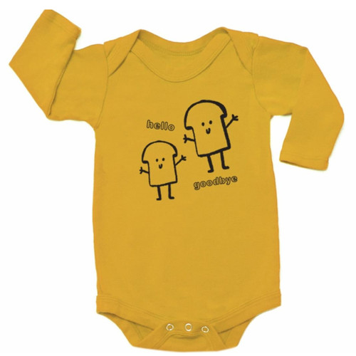 LS Bread Guys Bodysuit, Golden
