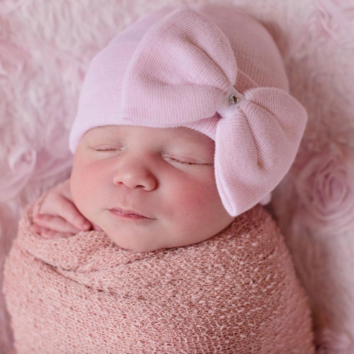 Newborn Hat, Pink Bow