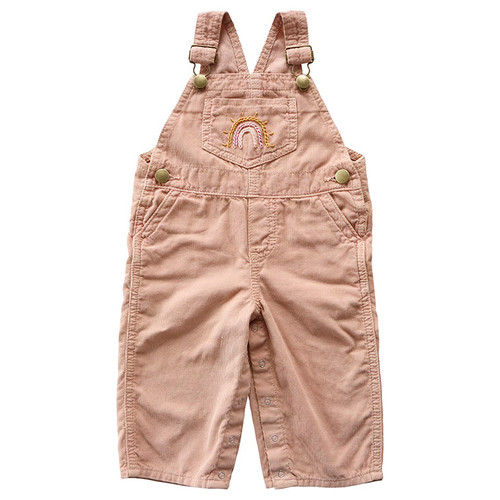 Rainbow Overall, Dusty Pink