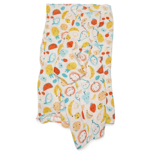 Luxe Muslin Swaddle, Cutie Fruits