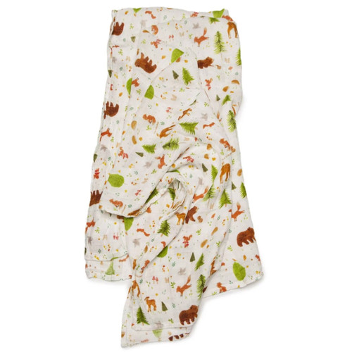 Luxe Muslin Swaddle, Forest Animals