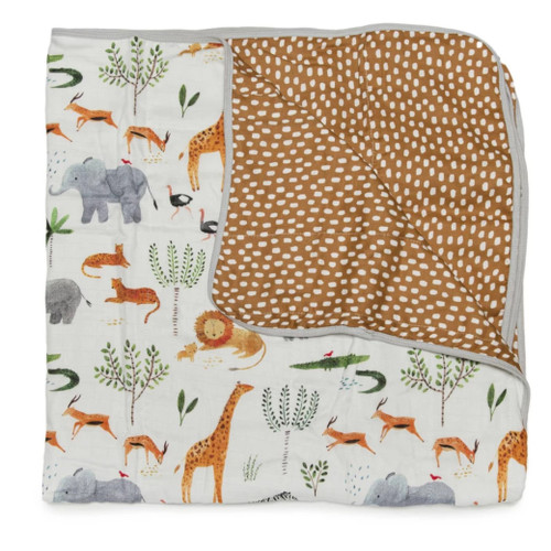 Luxe Muslin Quilt, Safari Jungle