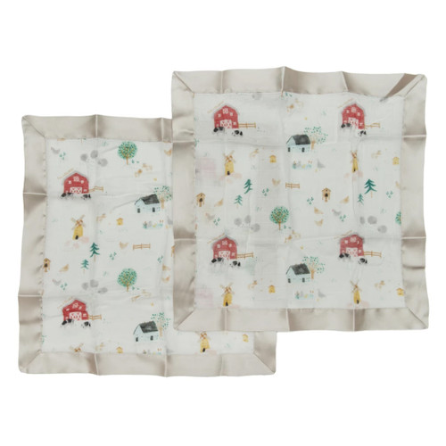 Security Blanket 2-pack, Farm Animals