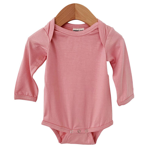 Long Sleeve Bodysuit, Prettiest Pink