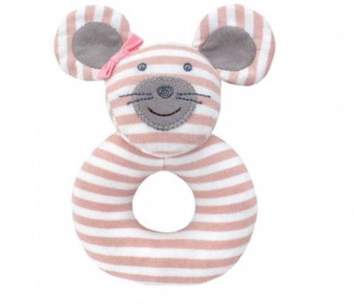 Ballerina Mouse Organic Ring Rattle
