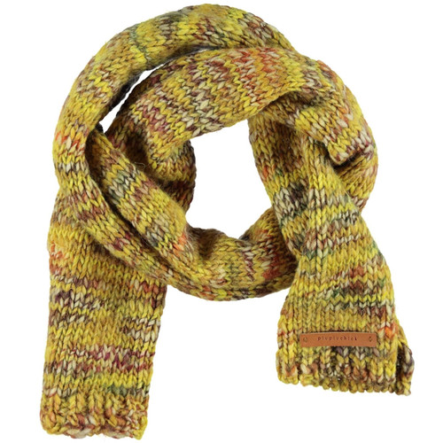 Knitted Scarf, Mustard Flecked