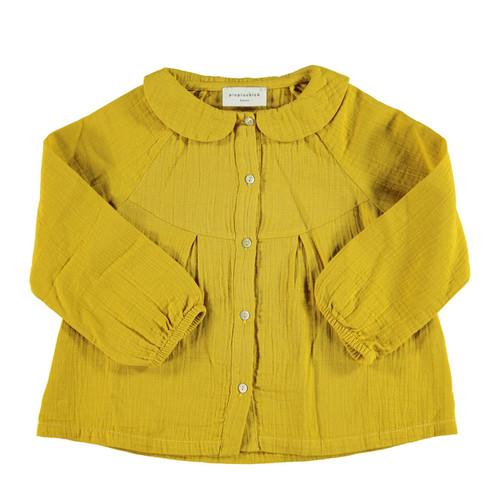 Peter Pan Collared Blouse, Mustard