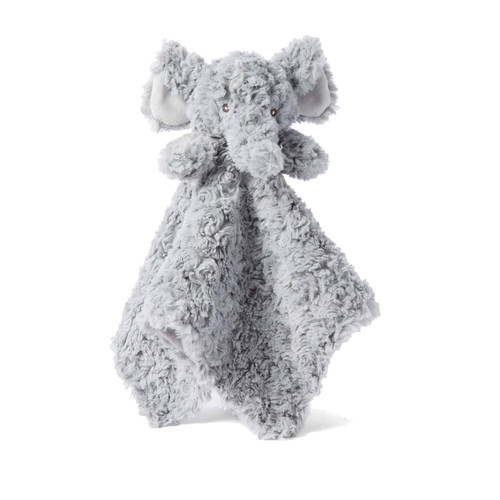 Grey Swirl Elephant Security Blanket