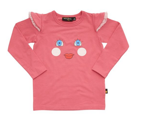 Rock Your Baby Doll Face LS Tee