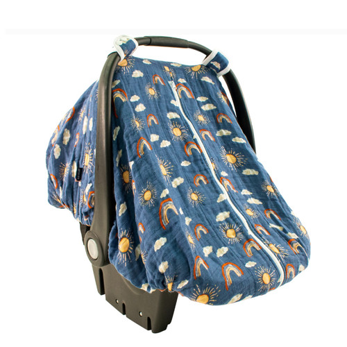 Muslin Car Seat Cover, Hello Sunshine