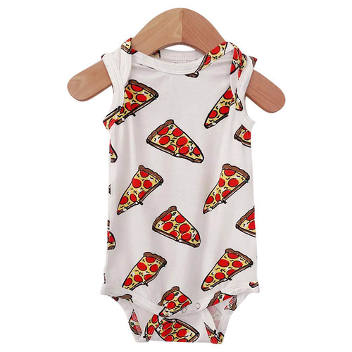Sleeveless Bodysuit, Pizza