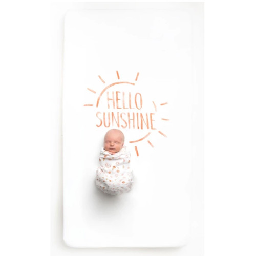 Organic Cotton Crib Sheet, Hello Sunshine