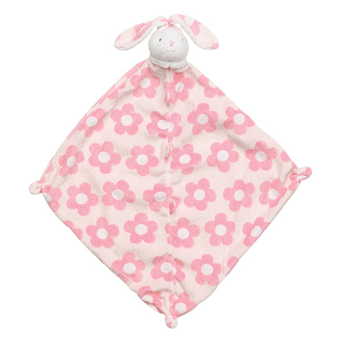 Pink Flower Bunny Security Blankie