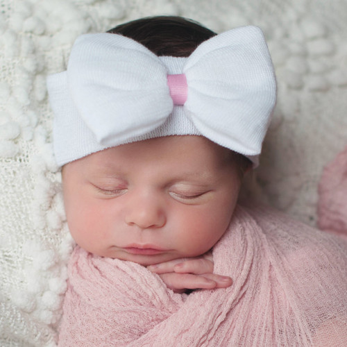 Newborn Headband, White