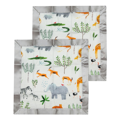 Security Blanket 2-pack, Safari Jungle