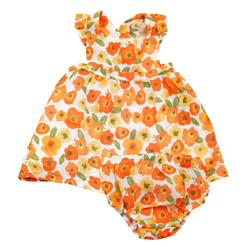 Pinafore Top & Bloomer, Poppies