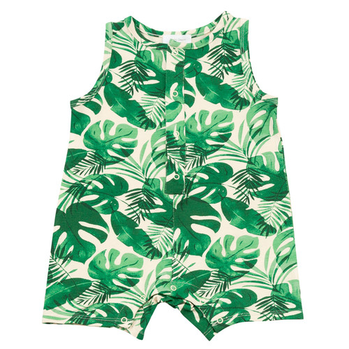 Shortie Romper, Monstera