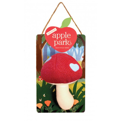 Woodland Organic Mushroom Rattle, Red