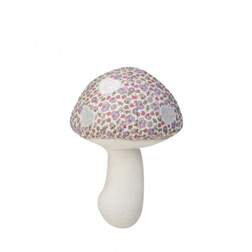 Woodland Organic Mushroom Rattle, Purple Garden