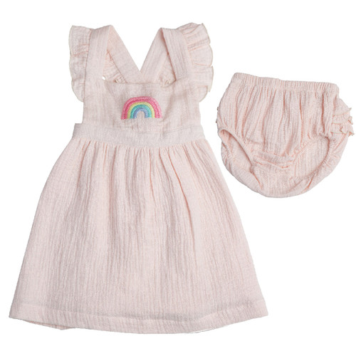 Rainbow Pinafore Dress and Bloomer Set