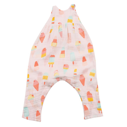 Tie Back Romper, Cool Sweets