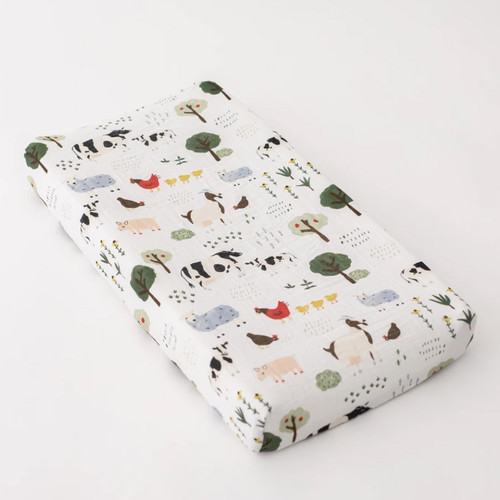 Muslin Changing Pad Cover, Family Farm