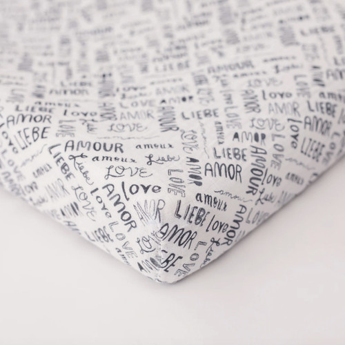 Muslin Changing Pad Cover, Love Languages
