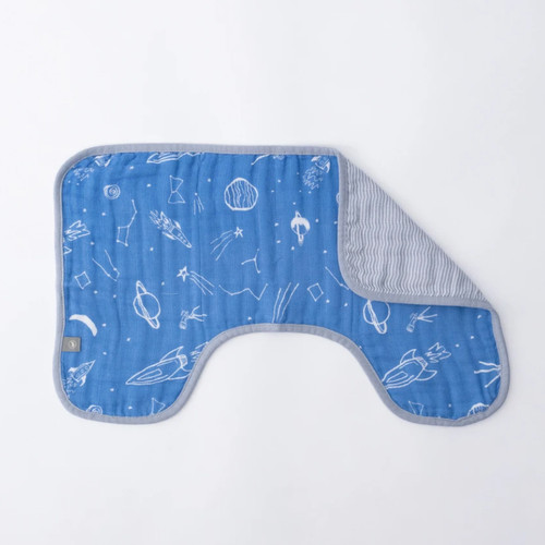 Cotton Muslin Burp Cloth, Stargaze