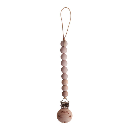 Cleo Pacifier Clip, Blush