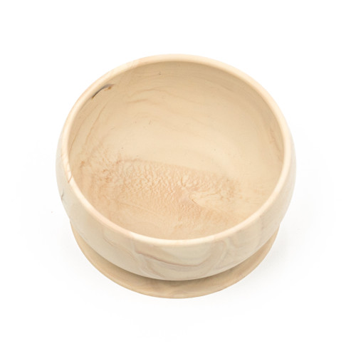 Suction Bowl, Silicone Wood Grain