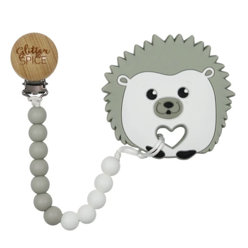 Teether with Clip, Hedgehog