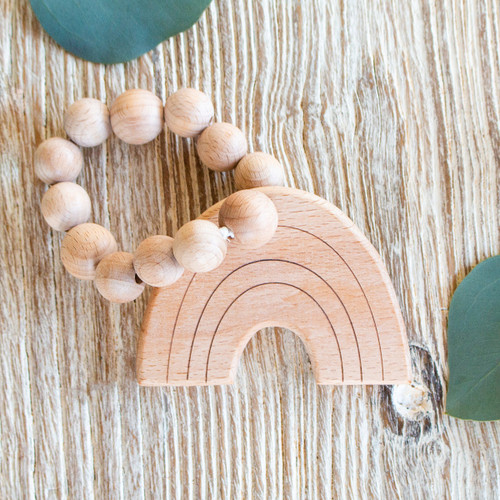 Wood Teether, Rainbow