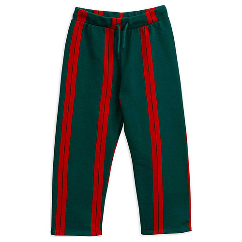 Mini Rodini Stripe Sweatpants, Green