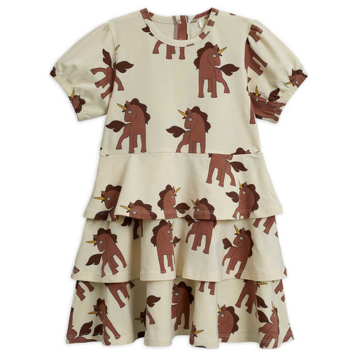 Mini Rodini Short Sleeve Dress, Unicorns