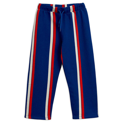 Mini Rodini Stripe Sweatpants, Blue
