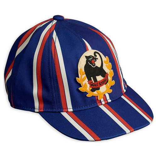 Mini Rodini Badge Cap, Blue