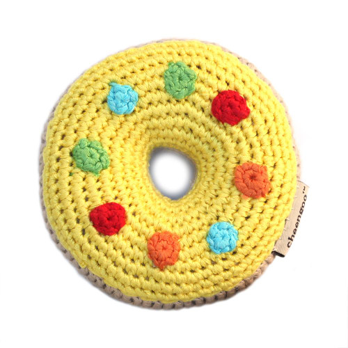Yellow Donut Rattle