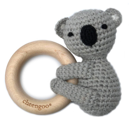 Crochet Koala Teething Rattle