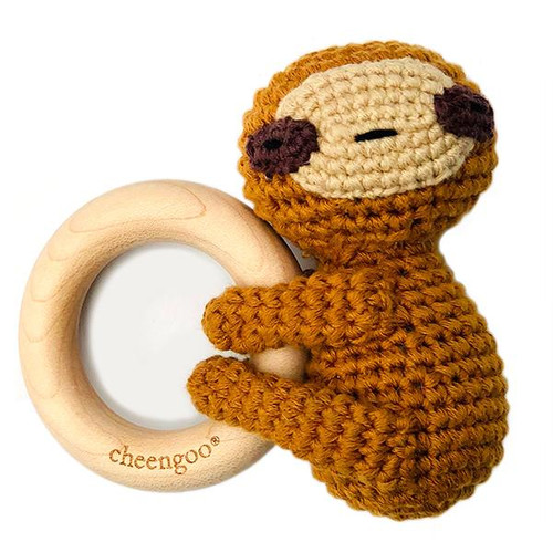 Crochet Sloth Teething Rattle