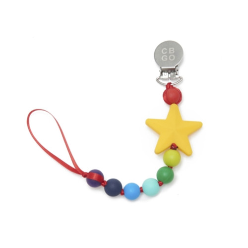 Pacifier Clip, Rainbow Star