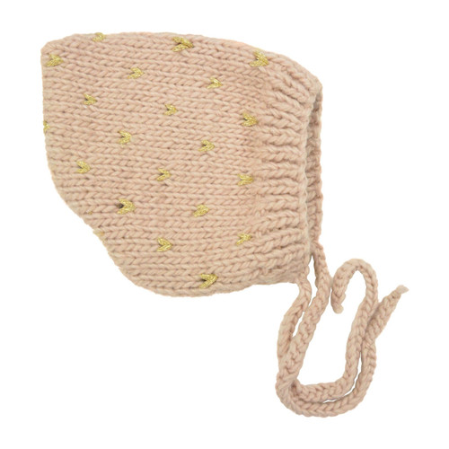 Fair Isle Bonnet, Pink/Gold