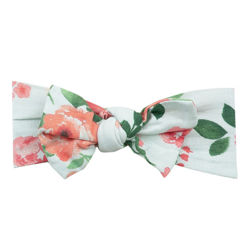 Knot Headband, Rose Garden