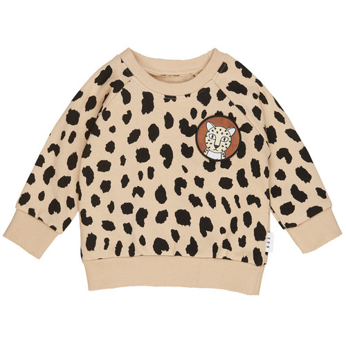 Organic Cotton Fleece Sweatshirt, Animal Spot