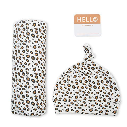 Hat & Swaddle Set, Leopard