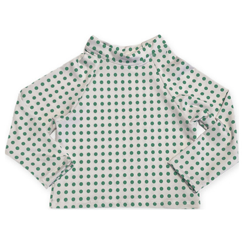 Oeuf Rash Guard, Green Dots