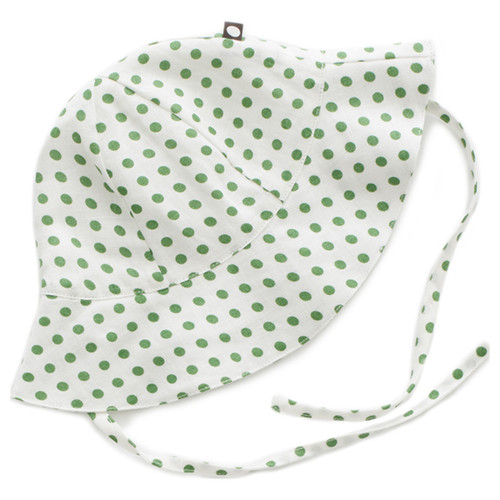 Oeuf Baby Hat, Green Dots